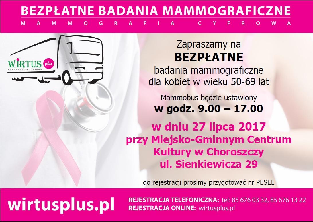 Plakat WirtusPplus Mammografia